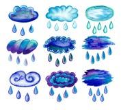 Moln med regndroppar Royaltyfri Fotografi