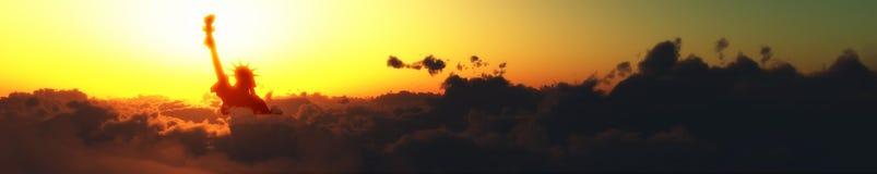 moln och frihet Arkivbild