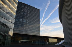 Moln och himlar i Luxembourg Arkivbild