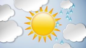 Moln och regn och sol royaltyfri illustrationer