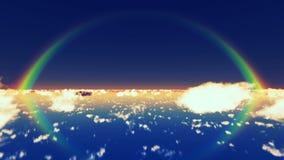 Moln och regnbåge stock illustrationer
