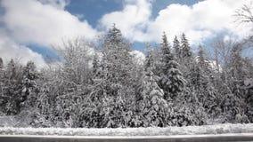 Moln och vinterunderland arkivfilmer