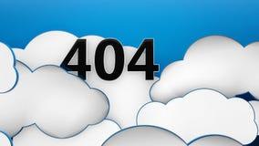 404 moln på bakgrund 3d för blå himmel Royaltyfri Bild