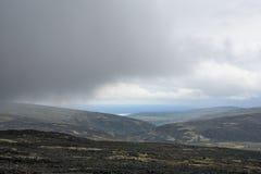 Moln på berget Fotografering för Bildbyråer