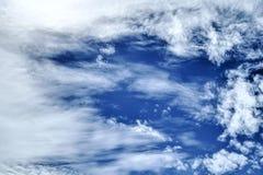 Moln på blå himmel Royaltyfria Bilder