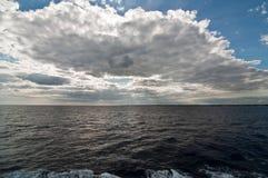 Moln på havet Royaltyfria Bilder