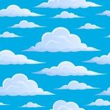 Moln på sömlös bakgrund 1 för blå himmel Arkivfoton