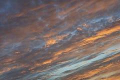 Moln på solnedgången Royaltyfri Foto