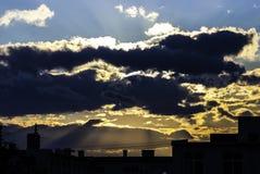 Moln på solnedgången Royaltyfria Bilder