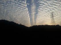 Moln på solnedgången Royaltyfria Foton