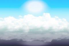 Moln på vattnet Arkivfoto
