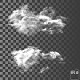 Moln Realistiskt genomskinligt olikt moln  vektor illustrationer