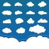 moln ställde in illustrationen Fotografering för Bildbyråer
