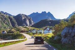 Molnarodden est au coeur de Lofoten, Norvège photos libres de droits