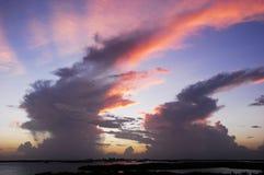 Molnbildande efter orkan i fortet Meyers, Florida Fotografering för Bildbyråer