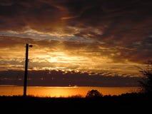 Molndesigner som solen avgår Royaltyfri Foto