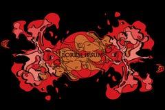 Molnexplosion eller färgrik rök royaltyfri illustrationer