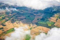 Molnhimmelsikt från flygplanet Royaltyfri Bild