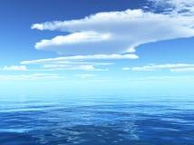 Molnig blå himmel Royaltyfri Foto