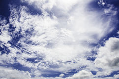 Molnig blå himmel Sri Lanka Royaltyfria Foton