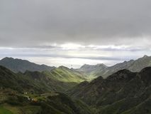 Molnig dag i Anaga - Tenerife royaltyfri bild