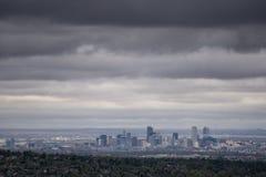 Molnig dag i Denver Arkivfoto