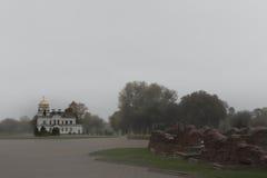 Molnig dag i fästningen i stad-hjälten Royaltyfria Foton