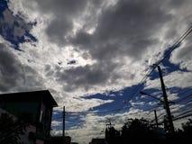 Molnig dag i staden Royaltyfria Foton
