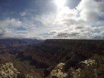 Molnig dag på Grand Canyon royaltyfri fotografi