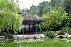 Molnig dag på sommarslotten, Peking, Kina arkivbilder