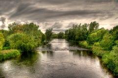 molnig dagflodshannon Royaltyfria Bilder