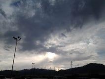 molnig eftermiddag arkivfoto