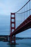 Molnig gryning i San Francisco Arkivbild