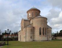 Molnig himmel över patriark- den athedral Ð-¡en abkhazia pitsunda Royaltyfria Foton