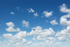 Molnig himmel Fotografering för Bildbyråer