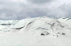 Molnig himmel i polart landskap Royaltyfri Fotografi