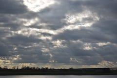 Molnig himmel i Tyskland 3 arkivfoton