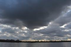 Molnig himmel i Tyskland 4 royaltyfri bild