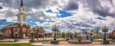 Molnig himmel ovanför staden av Westfield Royaltyfri Fotografi