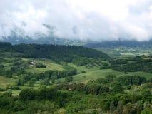 molnig liggande tuscany Arkivbild