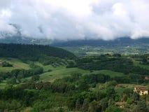 molnig liggande tuscany Royaltyfri Foto
