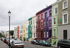 Molnig London gata Fotografering för Bildbyråer