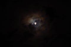Molnig måne Royaltyfria Foton