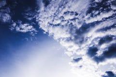 molnig mörk sky Royaltyfri Foto
