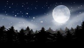 Molnig natthimmel för abstrakta stjärnor med Karlavagnenkonstellation Arkivfoton