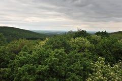 molnig panorama Royaltyfria Foton
