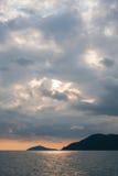 molnig sky arkivbild
