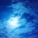 molnig sky Royaltyfri Foto