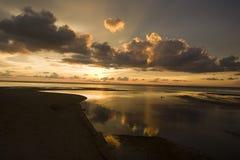 molnig solnedgång Royaltyfria Bilder