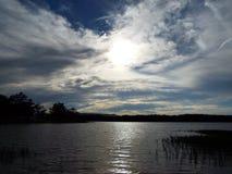 molnig solnedgång Royaltyfri Foto